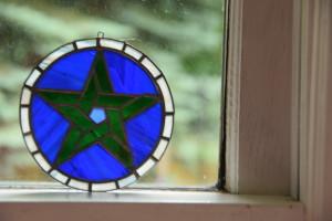 pentagram on my kitchen windowsill