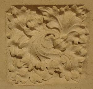 Detail from baptismal font, St. Luke's, Auckland