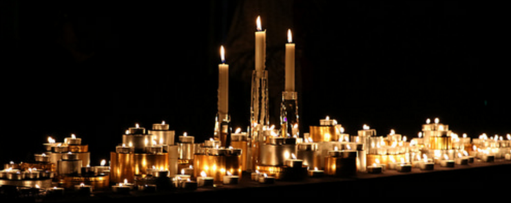 Longest Night Candles, Photo credit: Lian Chan