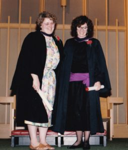 Queen's Theological College Graduation, 1990. With Carolyn Woodall